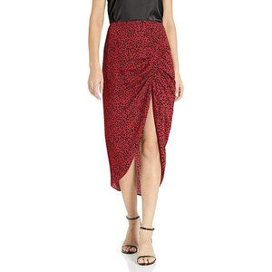 BB Dakota Red Leopard Print Rouge Skirt